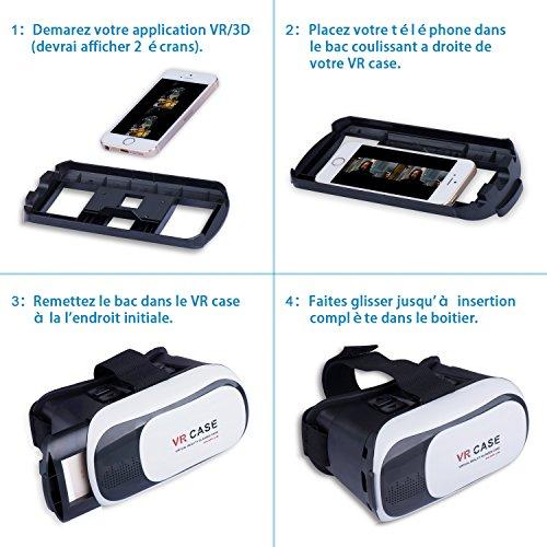lunettes 3d vr case compatible iphone samsung htc. Black Bedroom Furniture Sets. Home Design Ideas